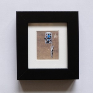 Pieces Of Bristol - Mini Framed Print - Banksy Street Art - Well Hung Lover