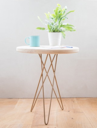 Made Anew_Tri leg hairpin side table £225