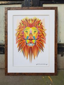 lion framed
