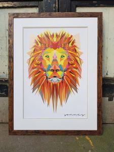 lion framed